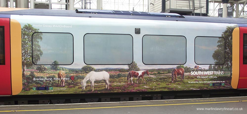 M P Davey artist south west trains art new Forest
