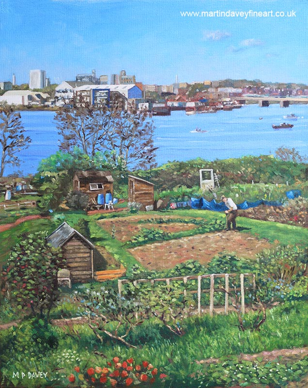 allotments_at_southampton oil painting