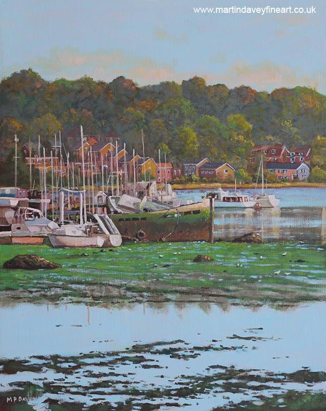 northam_boat_yards_and_old_boats bitterne acrylic painting