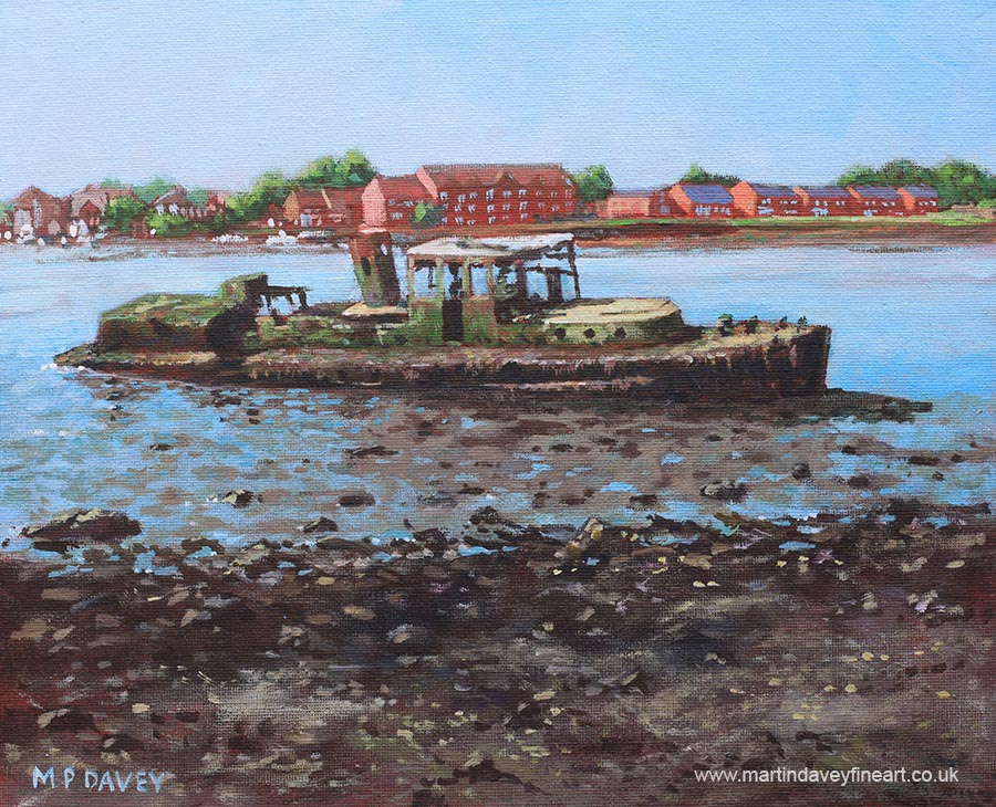 boat_wreck_stdenys acrylic painting