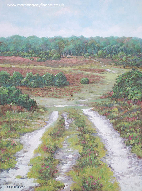 painting of path New Forest Lyndhurst
