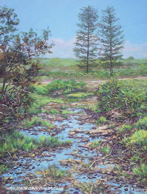 painting of watery ditch new forest