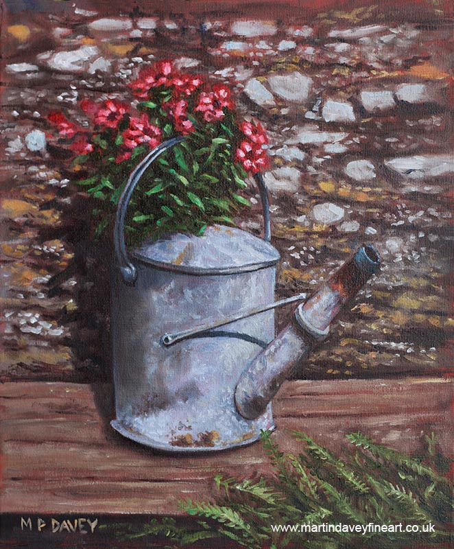 old_watering_can_with_flowers oil painting