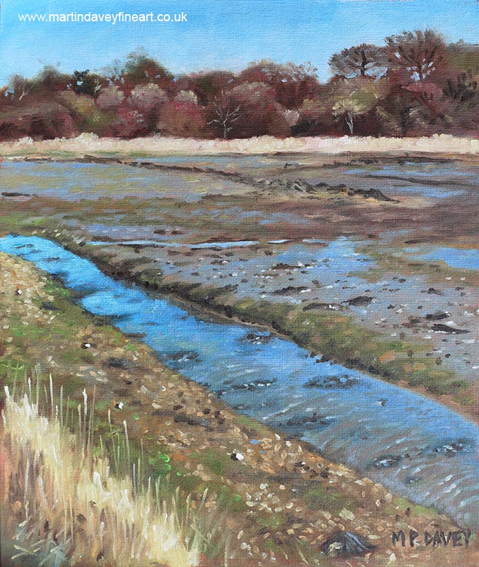 River Hamble Lagoon Hampshire oil painting