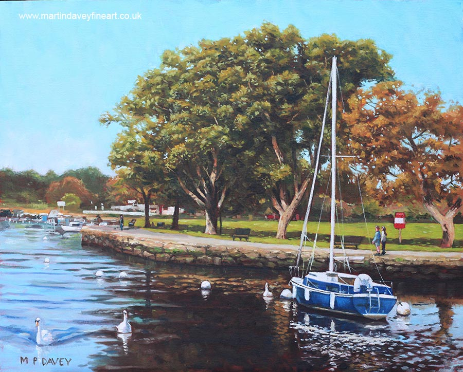 sailing_boats_and_yachts_on_the_river_stour_christchurch oil painting
