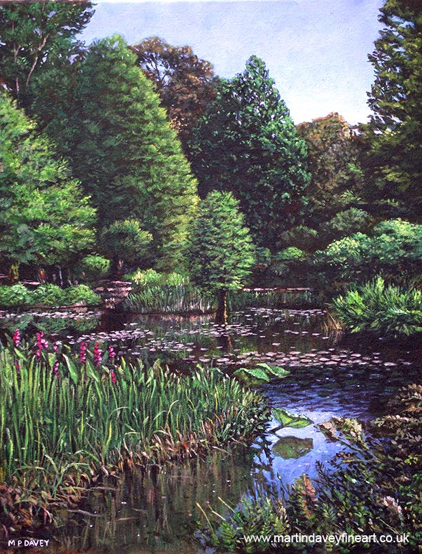southampton_hilliers_gardens acrylic painting