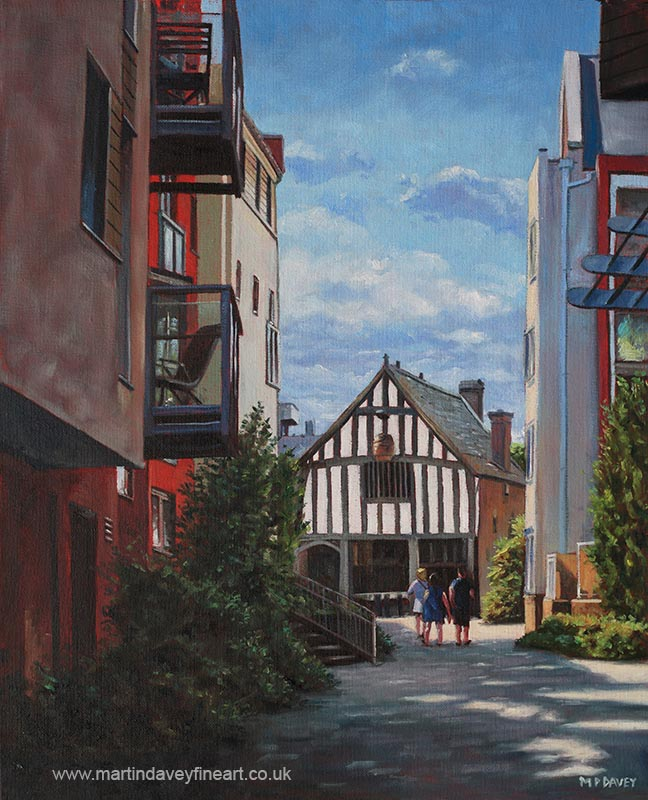 southampton_medieval_merchant_house oil painting