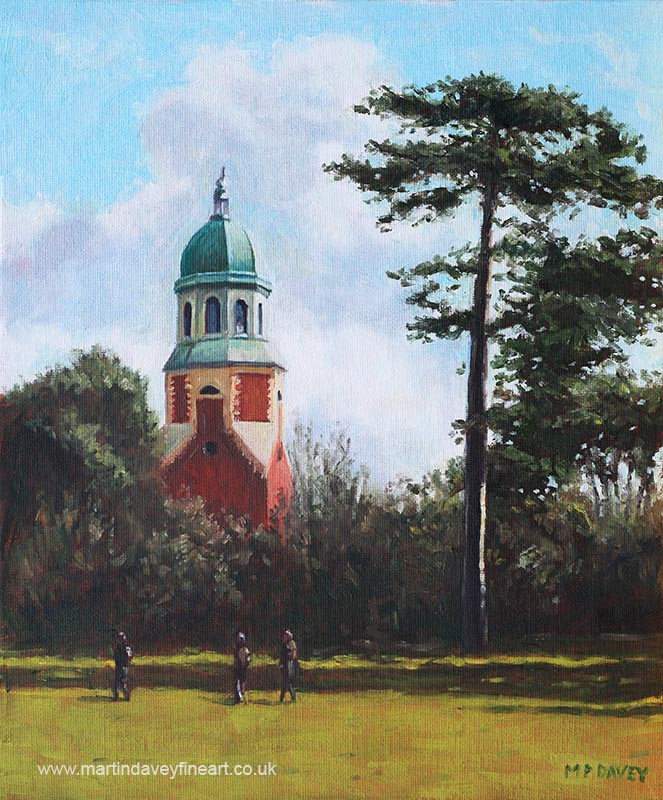 southampton_netley_hospital_chapel_weston_shore oil painting