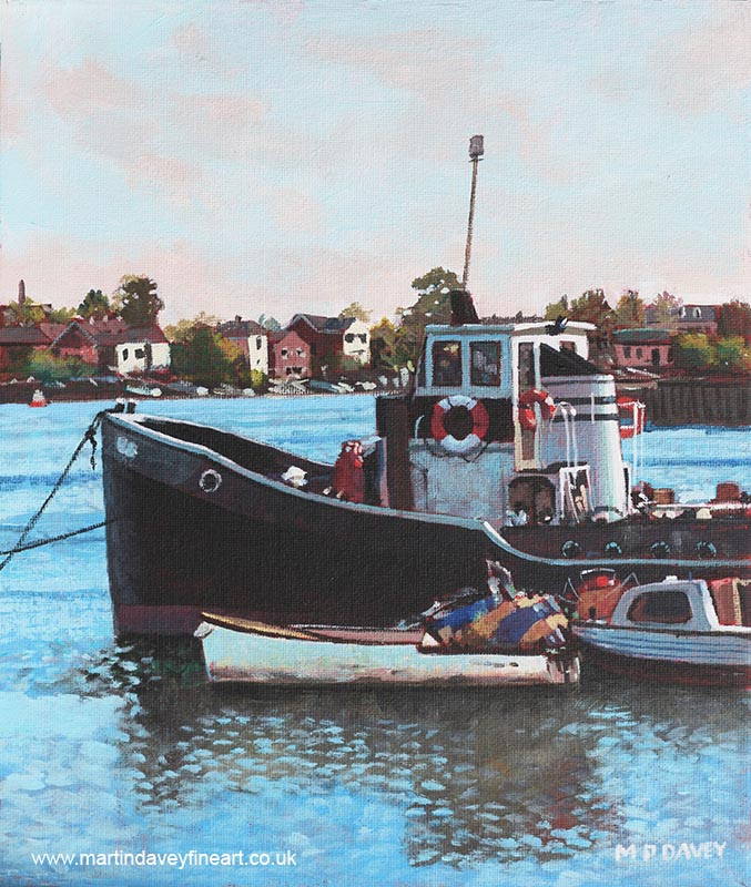tug boat southampton_old_boats_stdenys oil painting
