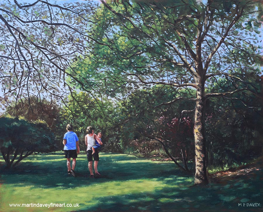 southampton_people_in_park painting