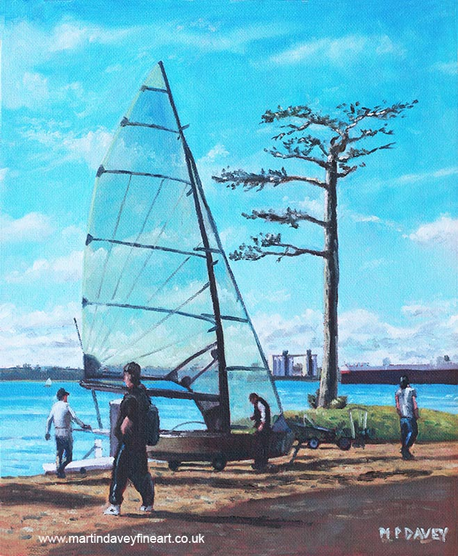 southampton_southampton_sailing_at_weston_shore_southampton_water oil painting