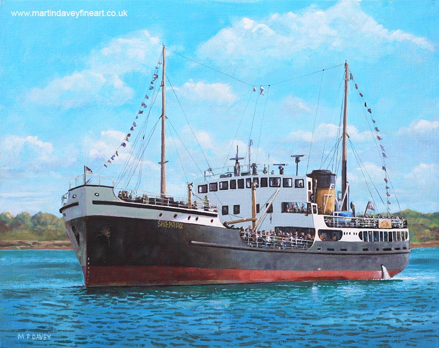SS_shieldhall_on_cruise_southampton_water acrylic painting