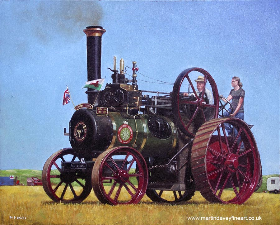 steam traction engine Jefferies General Purpose traction Engine velfrey queen oil painting