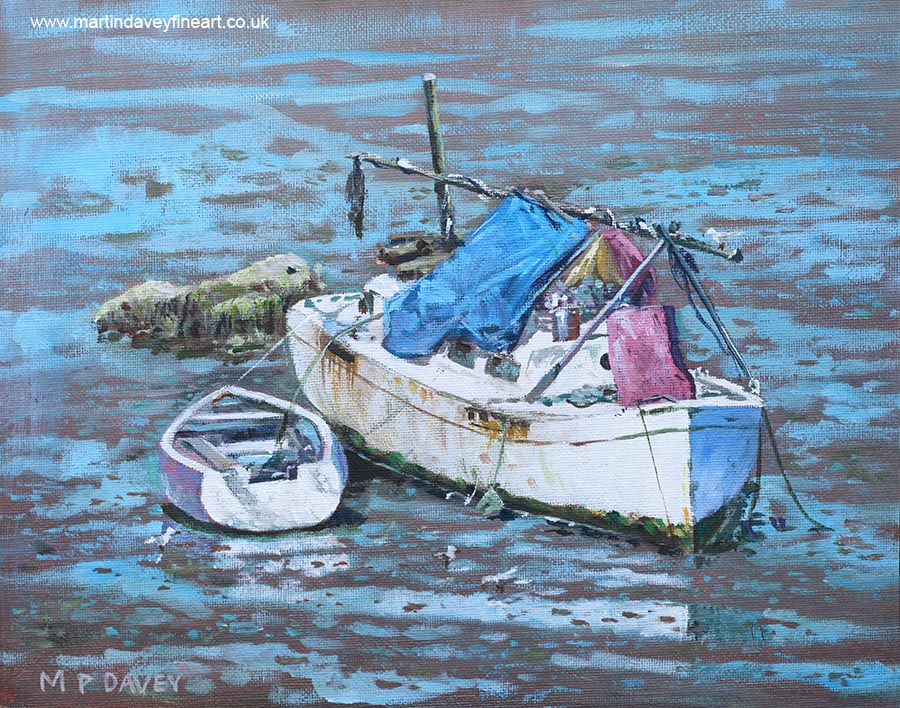 two_boat_wrecks_at_low_tide acrylic painting