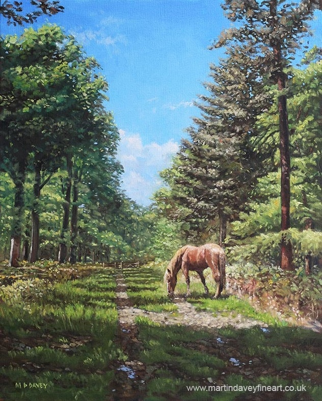 OIL_painting_horse_in_new_forest oil painting