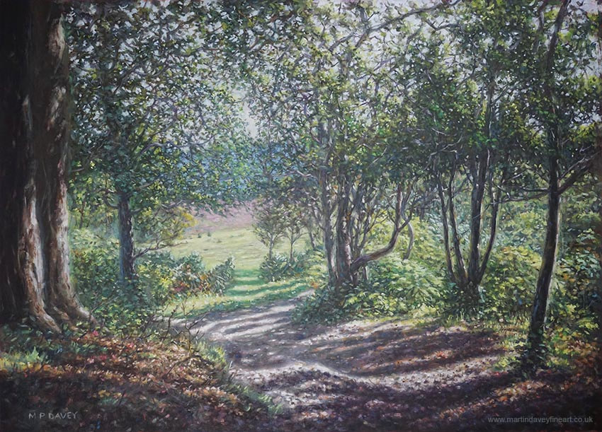 path in new Forest Hampshire oil painting