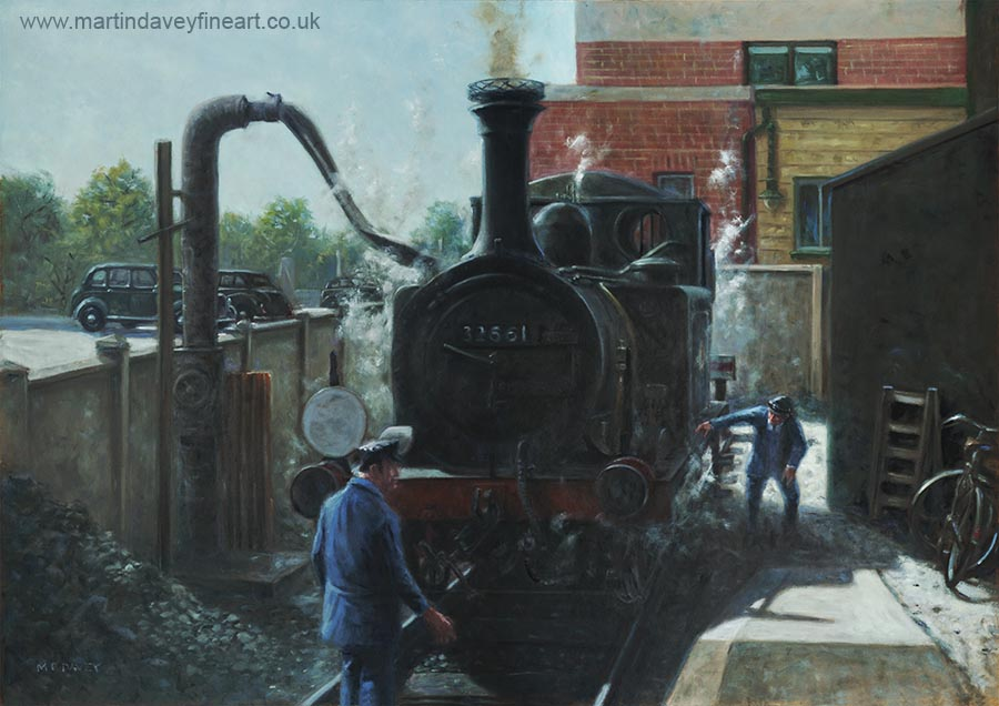 Terrier Tank Railway Locomotive At Havant Station oil painting