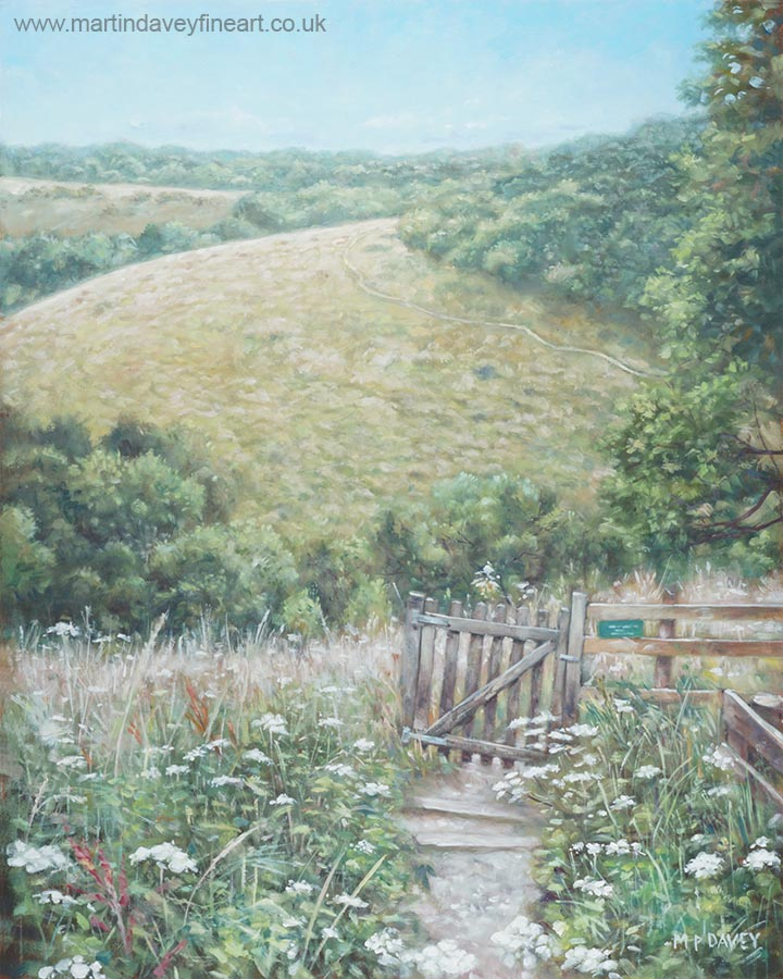 Winchester Hill Area In Hampshire During Summer oil painting