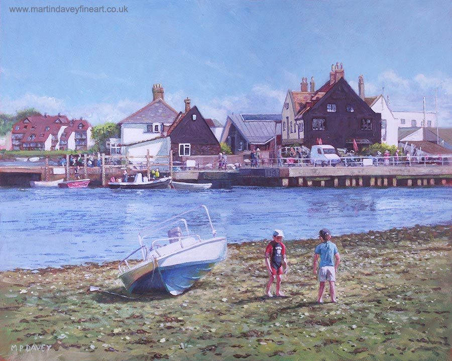 haven inn mudeford Christchurch quay painting