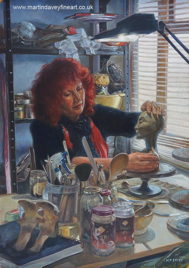 portrait of Leo Deville ceramicist oil painting